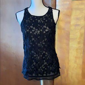 Express sheer Lace floral pattern top vintage